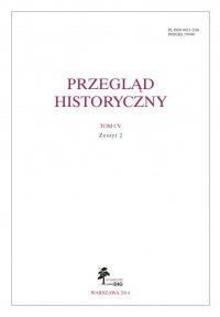 Przegląd Historyczny - zeszyt 2 z 2014 roku
