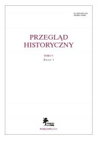 Przegląd Historyczny - zeszyt 1 z 2014 roku